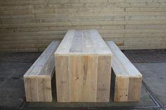 Steigerhout tafel en banken