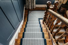 Carpet Runners Home Depot Canada Refferal: 8440388605 Victorian Stairs, Victorian House Interiors, Victorian Homes, Entry Stairs, House Stairs, Carpet Stairs, Wall Carpet, Rustic Stairs, Wooden Stairs