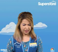 Trending GIF crying emotional superstore nichole bloom trying not to cry Nichole Bloom, Clover App, Try Not To Cry, New Trends, Poses, Funny Gifs, Hilarious, Mansion, News Quotes