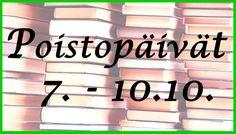 Leppävaaran kirjaston poistopäivät 7. - 10.10.2014. Leppävaaran Laurea-kirjasto jakaa ilmaiseksi suuren määrän kokoelmasta poistettuja kirjoja tiistaista perjantaihin. Liiketaloutta, yhteiskunnallista kirjallisuutta, turva-alaa ja keittokirjoja. Nopeat vievät parhaat päältä!