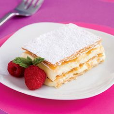 This classic dessert recipe is traditionally made with puff pastry, but here layers of phyllo dough brushed with butter provide a pastry every bit as crisp and flaky at the original.
