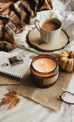 October # autumn photography # autumn # autumn # coffee # candle – cozy home warm Cozy Aesthetic, Autumn Aesthetic, White Aesthetic, Aesthetic Food, Autumn Coffee, Autumn Cozy, Autumn Fall, Winter, Cozy Coffee