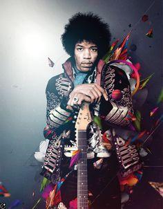 Jimi Hendrix for Guitar World by Pierre Doucin