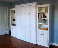 Murphy bed? If so, this would be great for a kid's room after he/she goes away to college but comes home to visit.