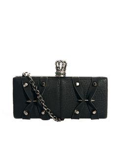 Image 1 ofReligion Bolt Detail Box Clutch Bag