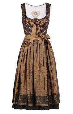Gorgeously sophisticated chocolate hues. #dress #dirndl #German #folk #costume