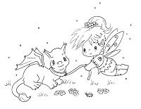 Sliekje digi Stamps: Fairy and dragonpet