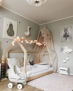 35 Amazingly Pretty Shabby Chic Bedroom Design and Decor Ideas - The Trending House Baby Bedroom, Baby Room Decor, Girls Bedroom, Ikea Girls Room, Baby Room Design, Toddler Rooms, Little Girl Rooms, Boy Room, Room Inspiration