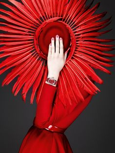 Ravishing in red Dior. Click to see more red dresses inspired by this bold color.
