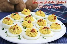 Bacon Potato Salad Stuffed Deviled Eggs