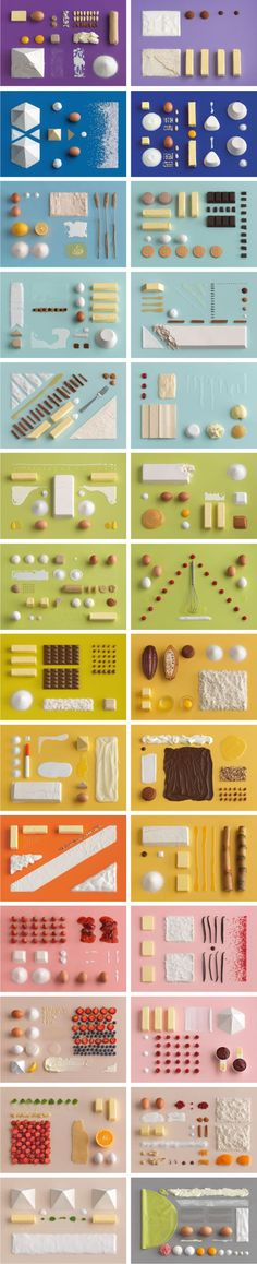 taken from the Ikea Cookbook, an idea for featuring what's included in each box… Web Design, The Design Files, Food Design, Layout Design, Still Life Photography, Creative Photography, Food Photography, Things Organized Neatly, Cookbook Design