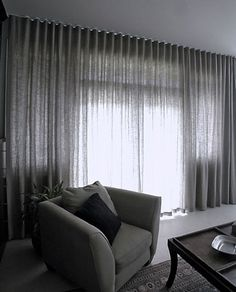 Modern Curtains window treatments ideas - the wave curtain heading Floor To Ceiling Curtains, Black Curtains, Curtains With Blinds, Curtains For Big Windows, S Wave Curtains, Wall Of Curtains, Sheer Curtains Bedroom, Lounge Curtains, Voile Curtains