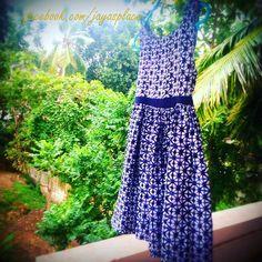 A geometric print summer dress #handmade #sewing #jayasplace #happyplace #cotton