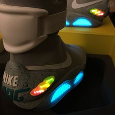NIB 2011 Nike Air Mag Marty McFly Back to the Future II BTTF sneakers + GIFT #Nike #AthleticSneakers