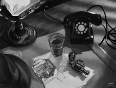 film noir detective office - Google Search
