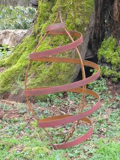 Items similar to Pod Shaped Garden Trellis In Red on Etsy Rusty Garden, Lawn And Garden, Outdoor Plants, Outdoor Gardens, Outdoor Decor, Modernisme, Pinterest Garden, Steel Art, Garden Trellis