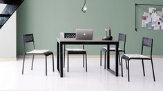 April Masa Solid Sandalye Mutfak Seti Conference Room, Satin, Table, Furniture, Home Decor, Meeting Rooms, Interior Design, Home Interior Design, Desk