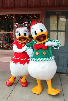 Donald and Daisy!! Christmas