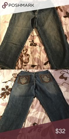 Michael Kors Cropped Jeans Michael Kors Cropped Jeans Size 12 Straight Leg Michael Kors Jeans Ankle & Cropped