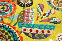 Close up of a quilt at the Japan Quilt Festival