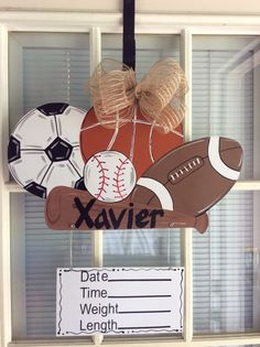 Hey, I found this really awesome Etsy listing at https://www.etsy.com/listing/243587043/sports-baby-announcement