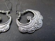 silver Gypsy earrings / Gypsy Jewelry by Gypsymoondesigns on Etsy, $15.00