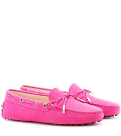 TOD'S Gommini suede loafers. #tods #shoes #flats