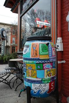awesome painted rain barrel