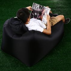 Portable Inflatable Lazy Sofa Beach Chair with Pillow for Outdoor Sports #men, #hats, #watches, #belts, #fashion, #style