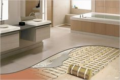 Heated floors are the ultimate of luxury bath must haves.