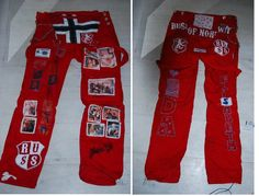 "My ""russ"" trousers. Click on the picture to learn more about the russe-tradition in Norway! :D"