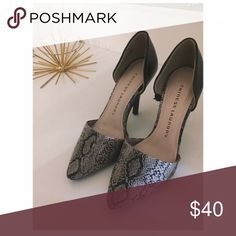 Snake Skin Print Point Toe Heels Great conditions, no box. Size 6 but fits a 5.5 as well. Brown heel, snake print front.   • No Trade 🚫 • Make An Offer🍀 • Ask about bundling 🛍  Please do not hesitate to ask questions. 👠 Chinese Laundry Shoes