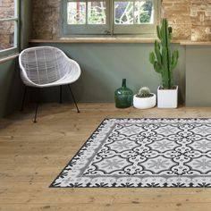 alfombra vinilo mosaico hidraulico retro vintage minimoi