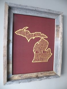 Central Michigan University Fight Song Map. $22.00, via Etsy.