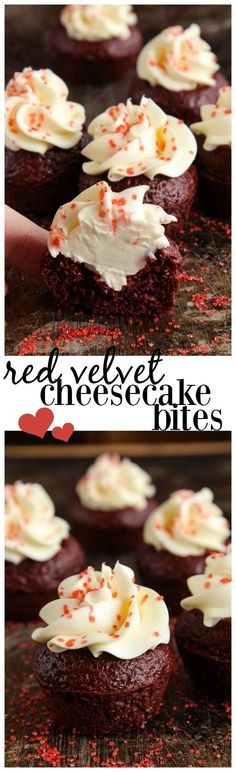 Simple cheesecake bites are an easy & delicious way to celebrate Valentine's Day! Little bites of heaven- just cake mix & cream cheese. Mini Desserts, Homemade Desserts, Best Dessert Recipes, Sweet Desserts, Chocolate Desserts, Cupcake Recipes, Easy Desserts, Baking Recipes, Sweet Recipes