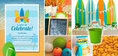 SURF BIRTHDAY PARTY(click photograph for larger image)Life's a beach with this all-ages birthday party.  Invitation:Pingg.com