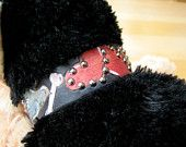 1 inch Personalized Leather Dog Collar - Love Banner. $75.00, via Etsy.