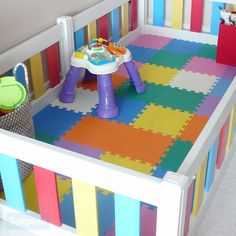 I Am In Love With The Floors And The Baby Gate Playpen