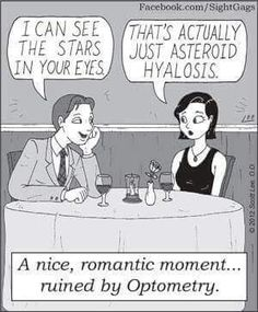 The dangers of dating an optometrist.