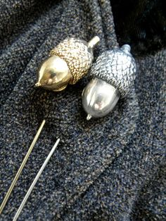 Sterling Silver Acorn Pins