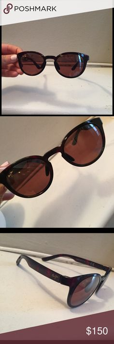 Maui Jim Mannikin Polarized HS704-26S sunglasses Brand new! Never been worn! Trendy, durable and polarized sunglasses.  Scratch resistant. 20% thinner and lighter than standard laminated glass lenses.  Maui Jim case included! Maui Jim Accessories Sunglasses