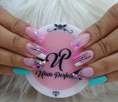 Neon Nails, Love Nails, Semi Permanente, Glitter Acrylics, Acrylic Nail Art, Nails On Fleek, Nail Tips, Pedicure, Nail Art Designs