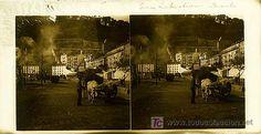 SAN SEBASTIAN - EL PUERTO - AÑOS 1910-20 - CRISTAL POSITIVO (TAMAÑO GRANDE) (Fotografía Antigua - Estereoscópicas)