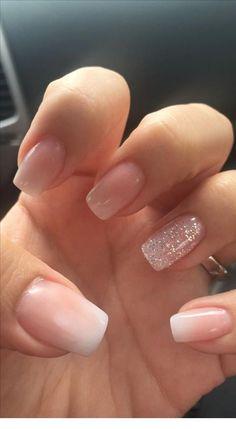 nails french tip glitter ~ nails french tip . nails french tip color . nails french tip with design . nails french tip glitter . nails french tip ombre . nails french tip acrylic . nails french tip coffin . nails french tip short Nail Design Glitter, Bling Nail Art, Bling Nails, Bling Bling, Nude Nails With Glitter, Gold Nail, Blush Pink Nails, Light Pink Nails, Baby Pink Nails With Glitter