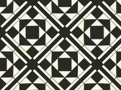 Original Style Lindisfarne Victorian floor tile design in dover white/black