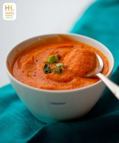 Creamy Carrot Ginger Pumpkin Soup. Easy! Chop-Boil-Blend.
