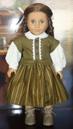 American Girl Civil War Dress in Olive by RuthielovestoSew on Etsy