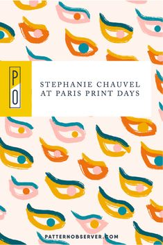 In today's blog post designer, and Textile Design Lab member Stéphanie Chauvel shares information on the show and what she will be presenting at the upcoming Paris Print Days print show. Textile Design, Floral Design, Crochet Fabric, Textile Texture, Abstract Animals, Kids Patterns, Digital Trends, Design Lab, Paris