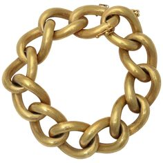 Hollow Link Florentined Bracelet | From a unique collection of vintage chain bracelets at http://www.1stdibs.com/jewelry/bracelets/chain-bracelets/