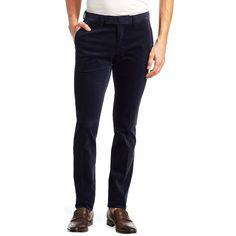 Ralph Lauren Purple Label Slim Eaton Corduroy Pants ($495) ❤ liked on Polyvore featuring men's fashion, men's clothing, men's pants, men's casual pants, mens slim pants, mens pants, polo ralph lauren mens pants, mens slim fit pants and mens corduroy pants